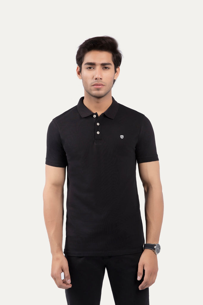 Buttoned Collar Polo Shirt