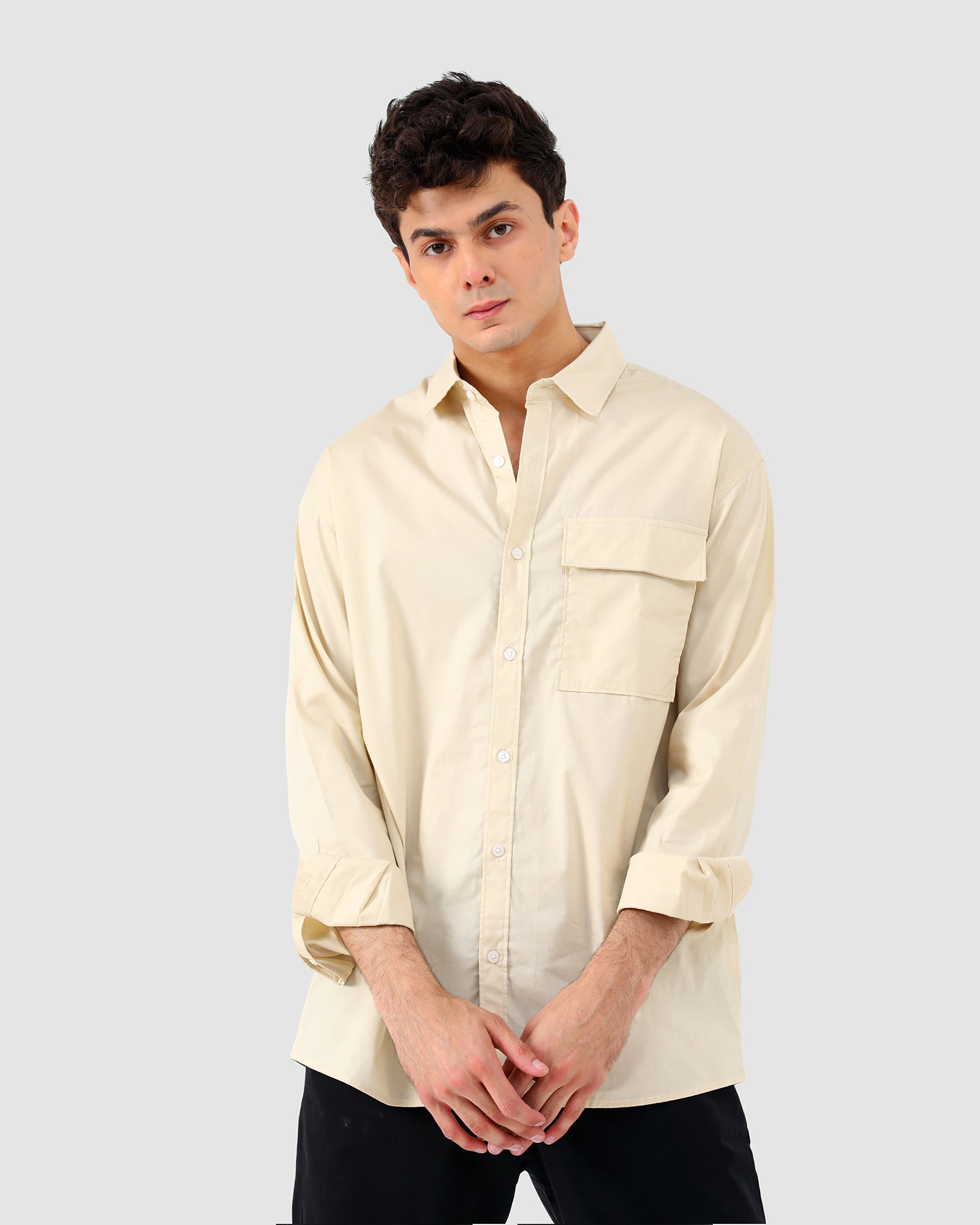Button Down Shirt with Flap Pocket