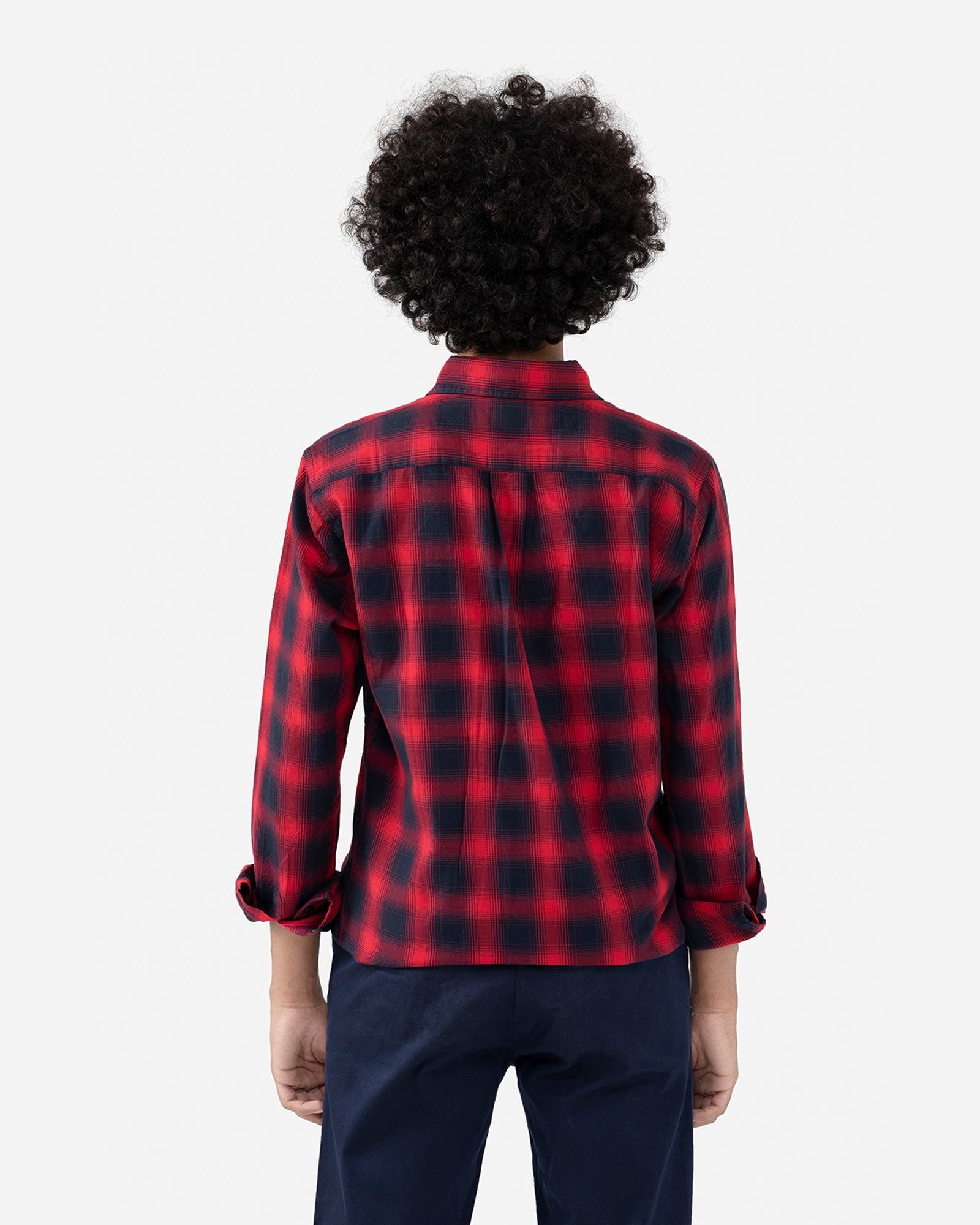 Checkered Shirt with Flap Pockets