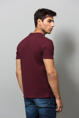 Maroon Crew Neck T-shirt