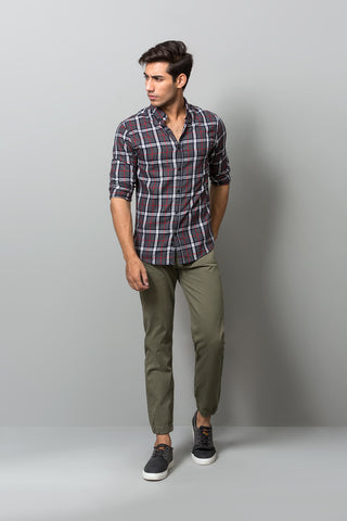Buttoned Down Check Print Shirt