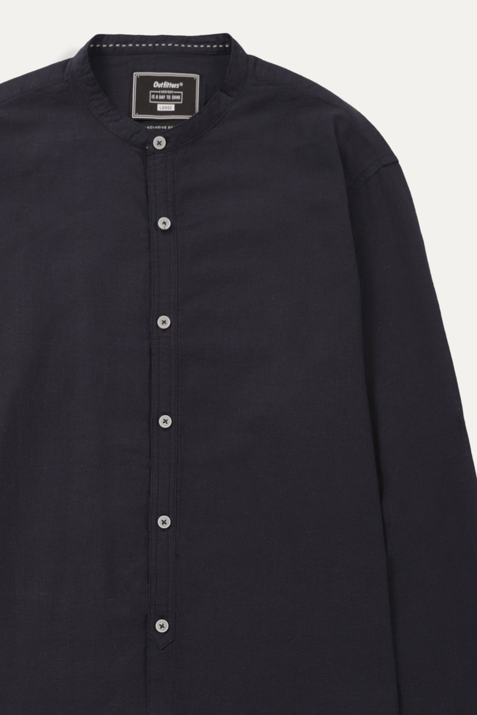 Plain Shirt with Placket Detail