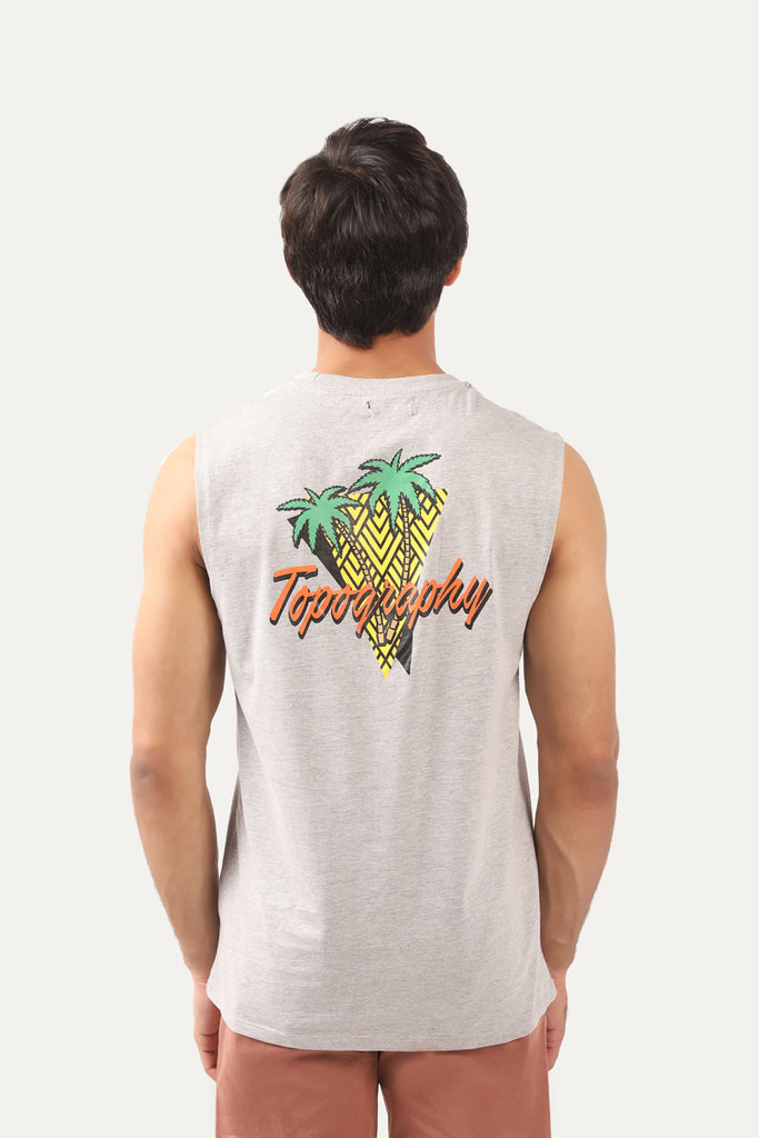 Topography sleeveless shirt