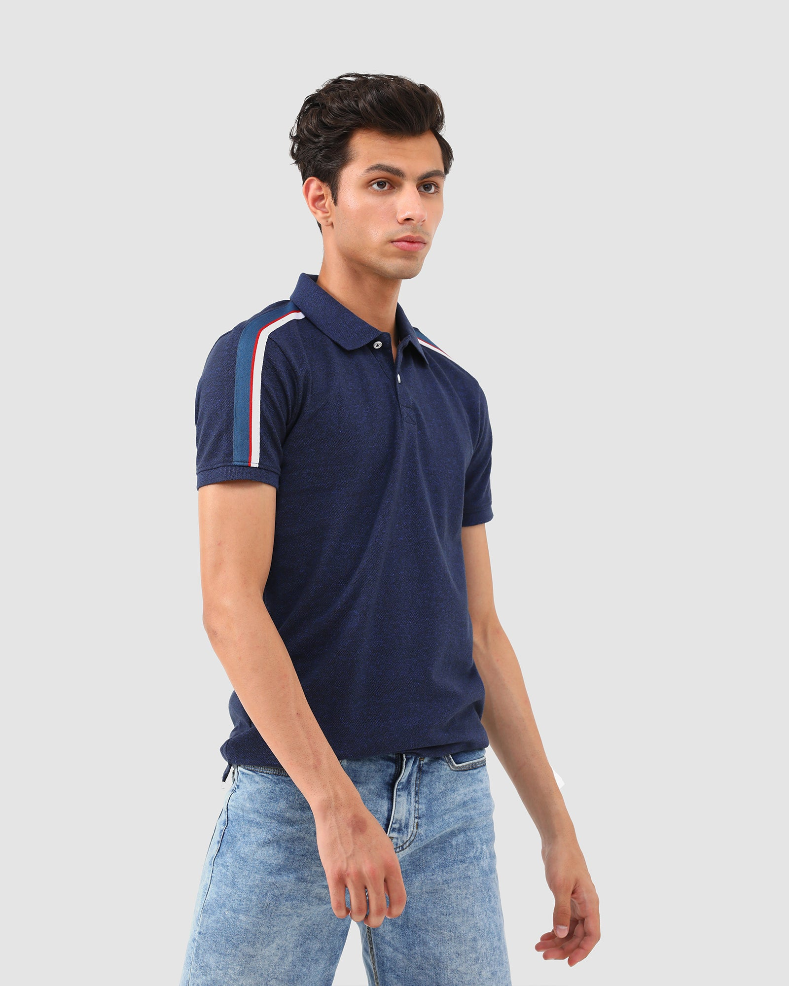 Polo Tee with Shoulder Tape