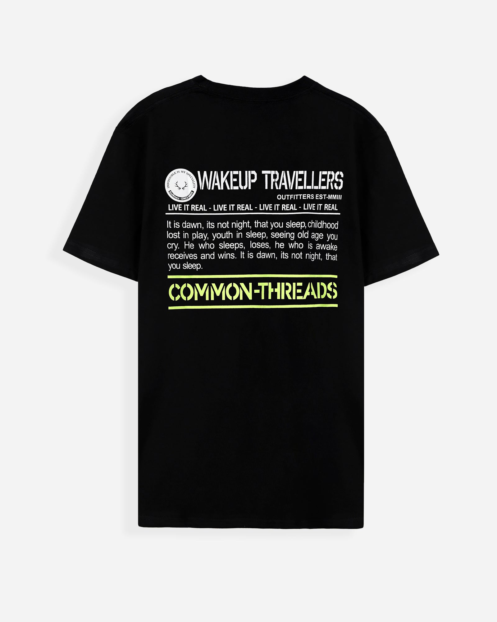 Wake Up Travellers Tee