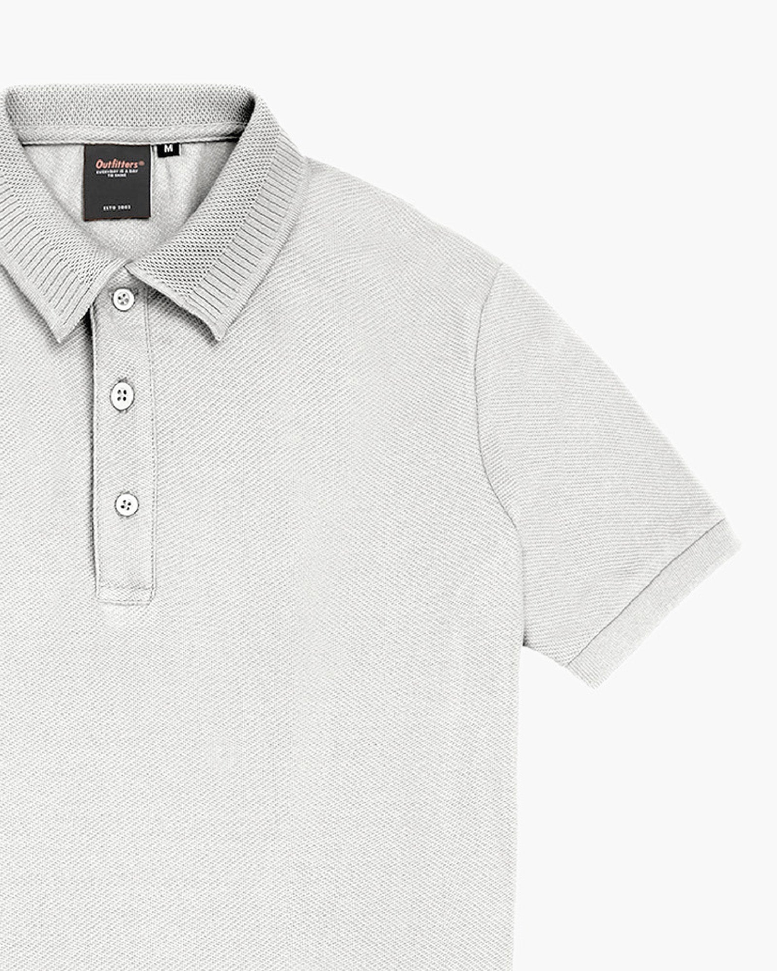 Textured Polo with Collar Detail