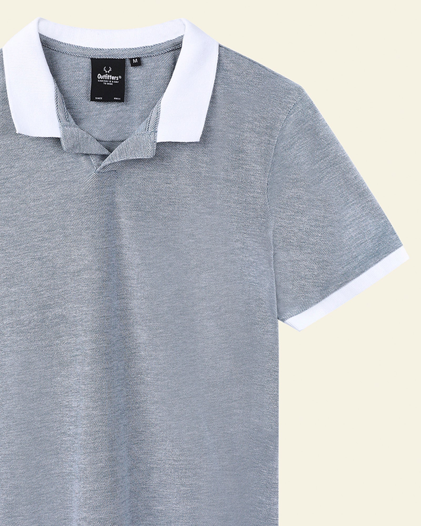 Polo Tee with Contrast Collar