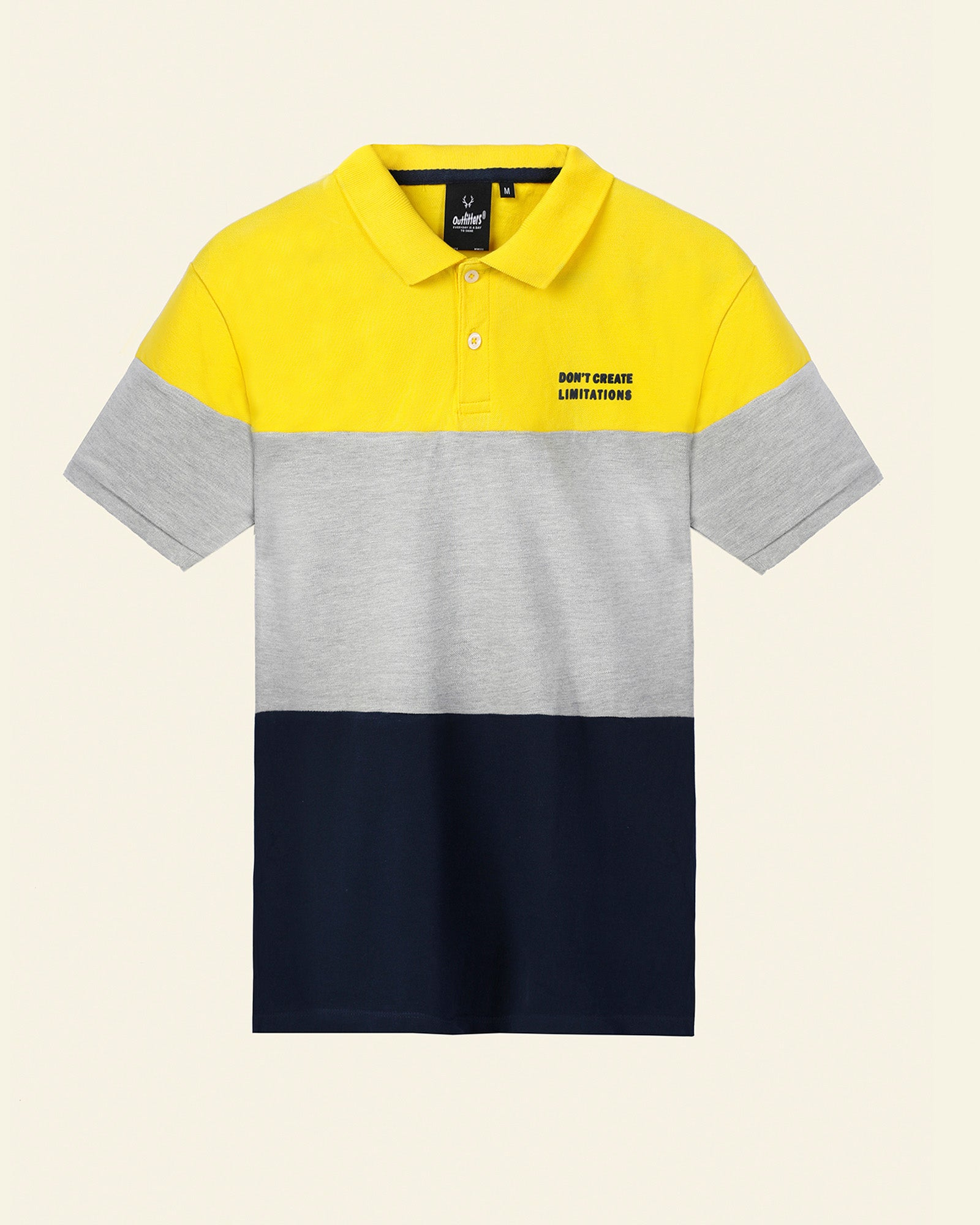 Regular Fit Polo with Color Blocking
