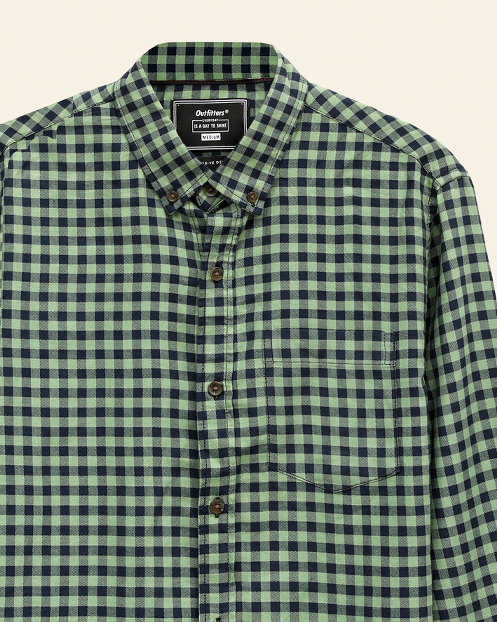 Checked Button Down Shirt