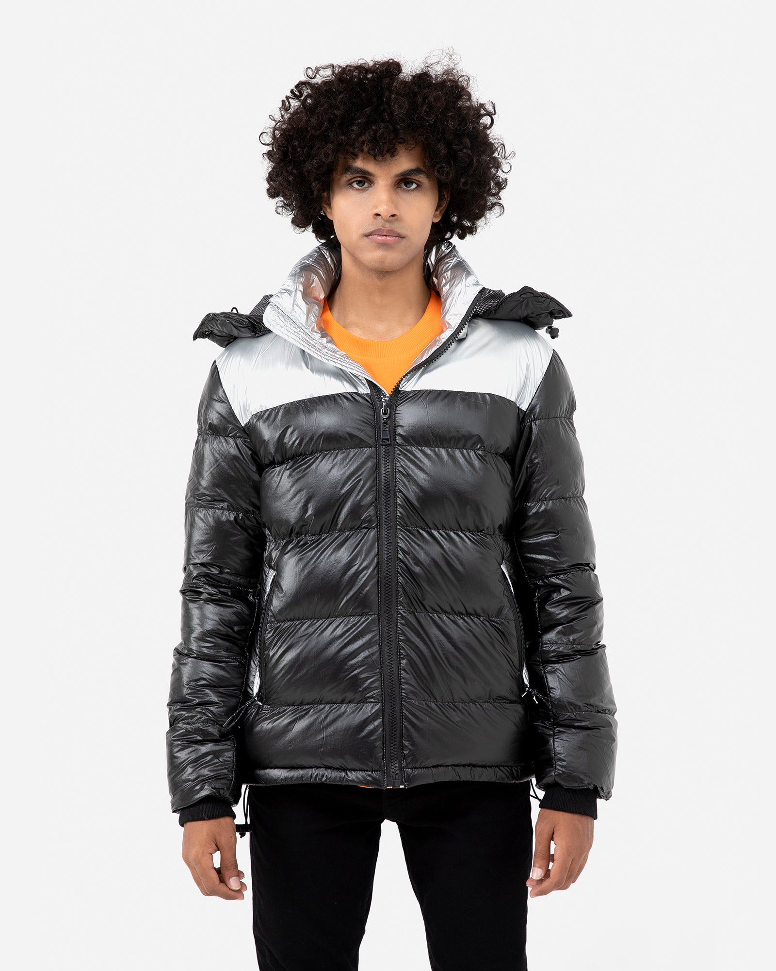 Futuristic Hooded Puffer Jacket