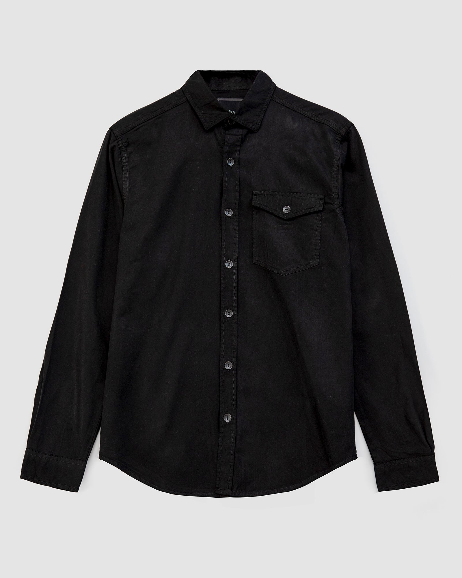 Button Down Shirt with Flap Pockets