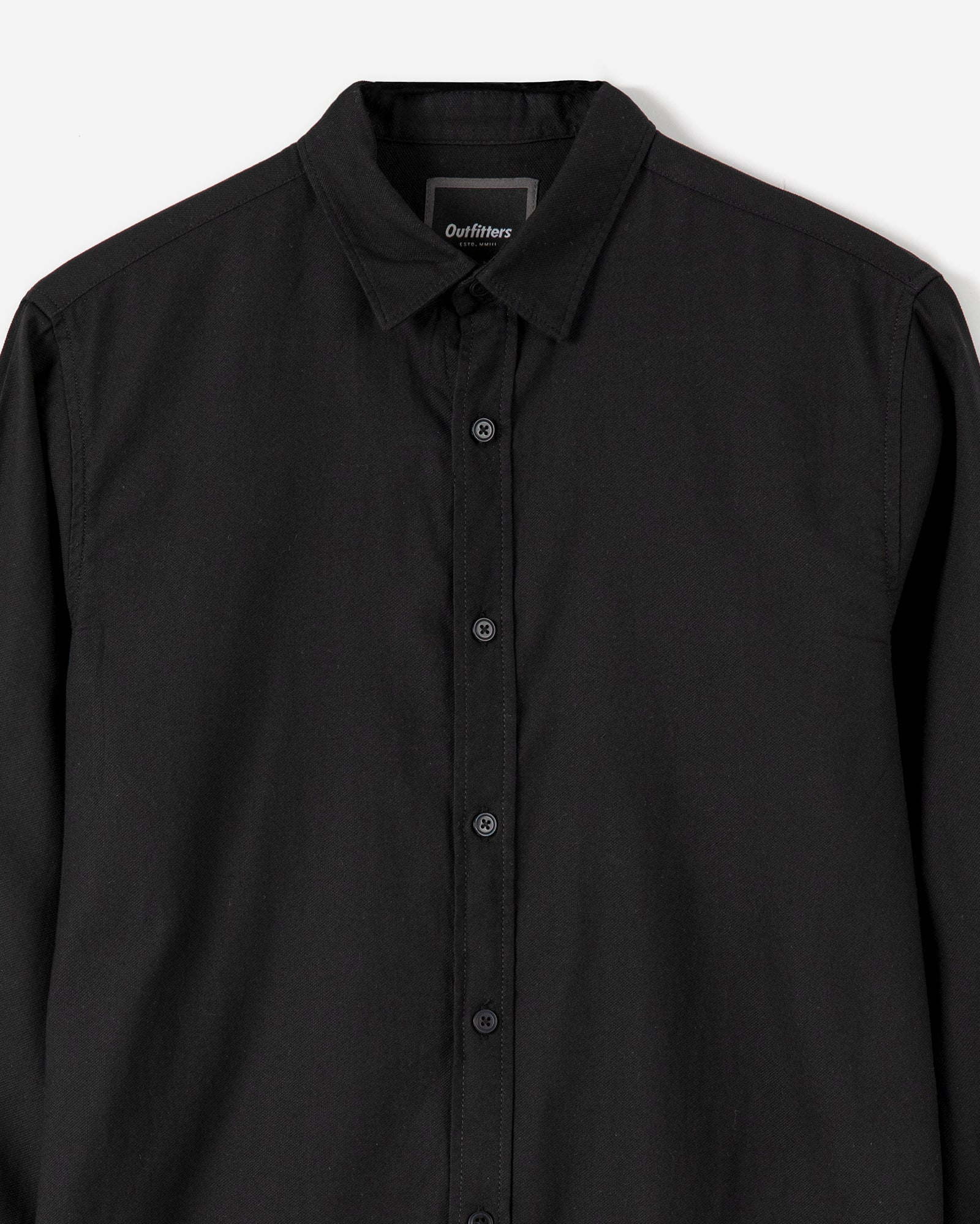 Button Down Shirt with Two-Piece Collar