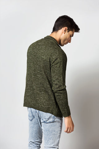Self Textured Sweater