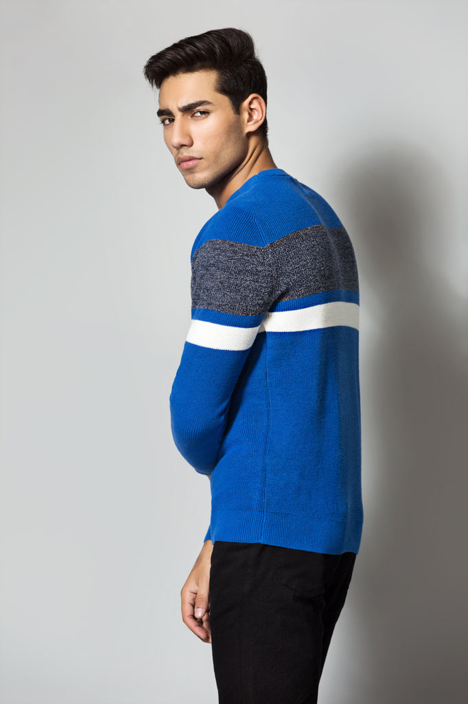 Three Tone Knitted Sweater