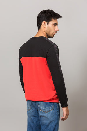 'Focus' colour block sweatshirt
