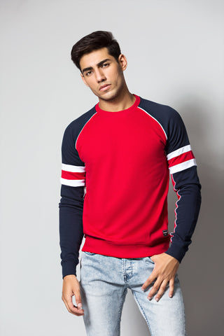 Relaxed Fit CREW NECK SWEAT SHIRT