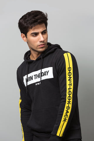 """Win the Day"" Black Hoodie"