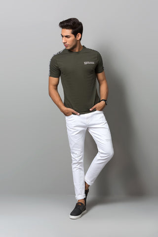Army Green Crew Neck T-Shirt