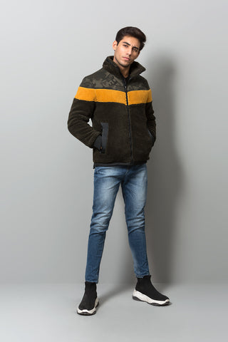 Contrast panelled jacket
