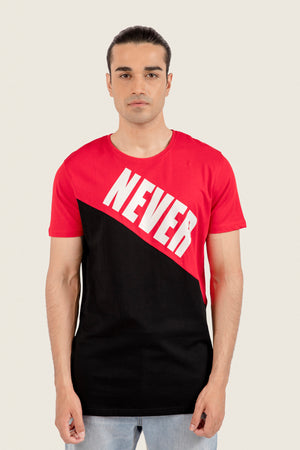 """Never Look Back"" Printed T-Shirt"