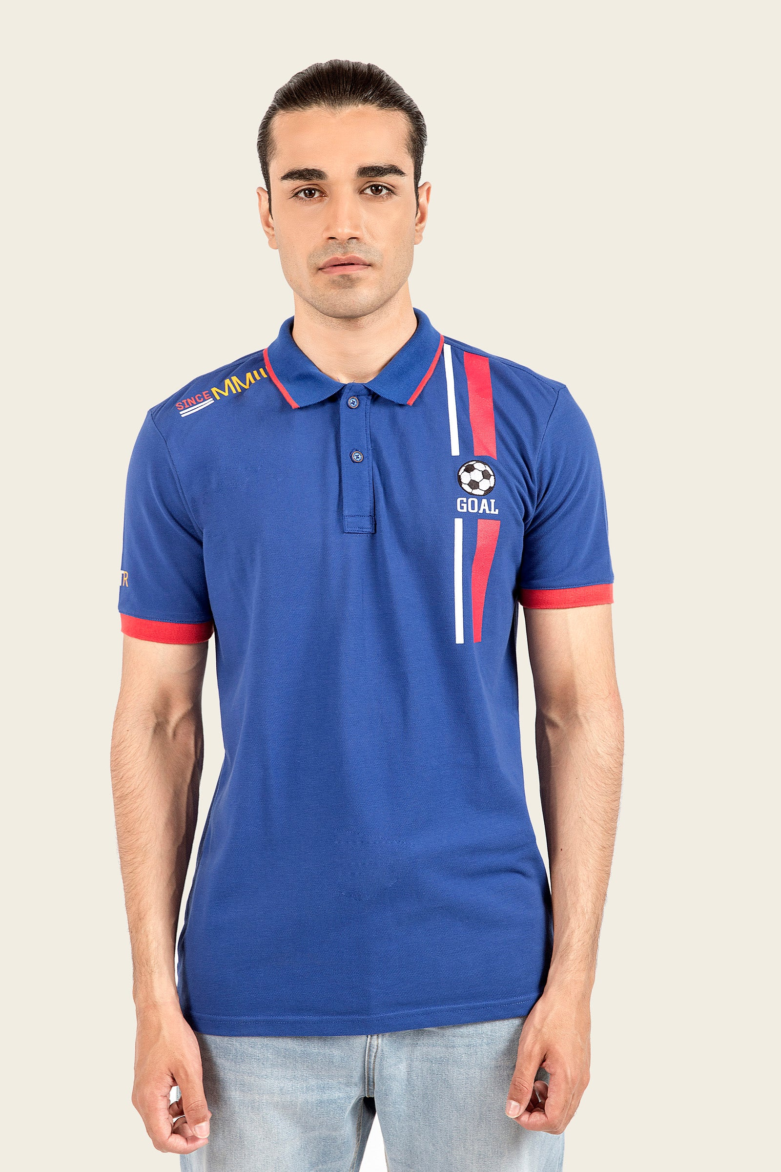 Football Graphic Polo Shirt