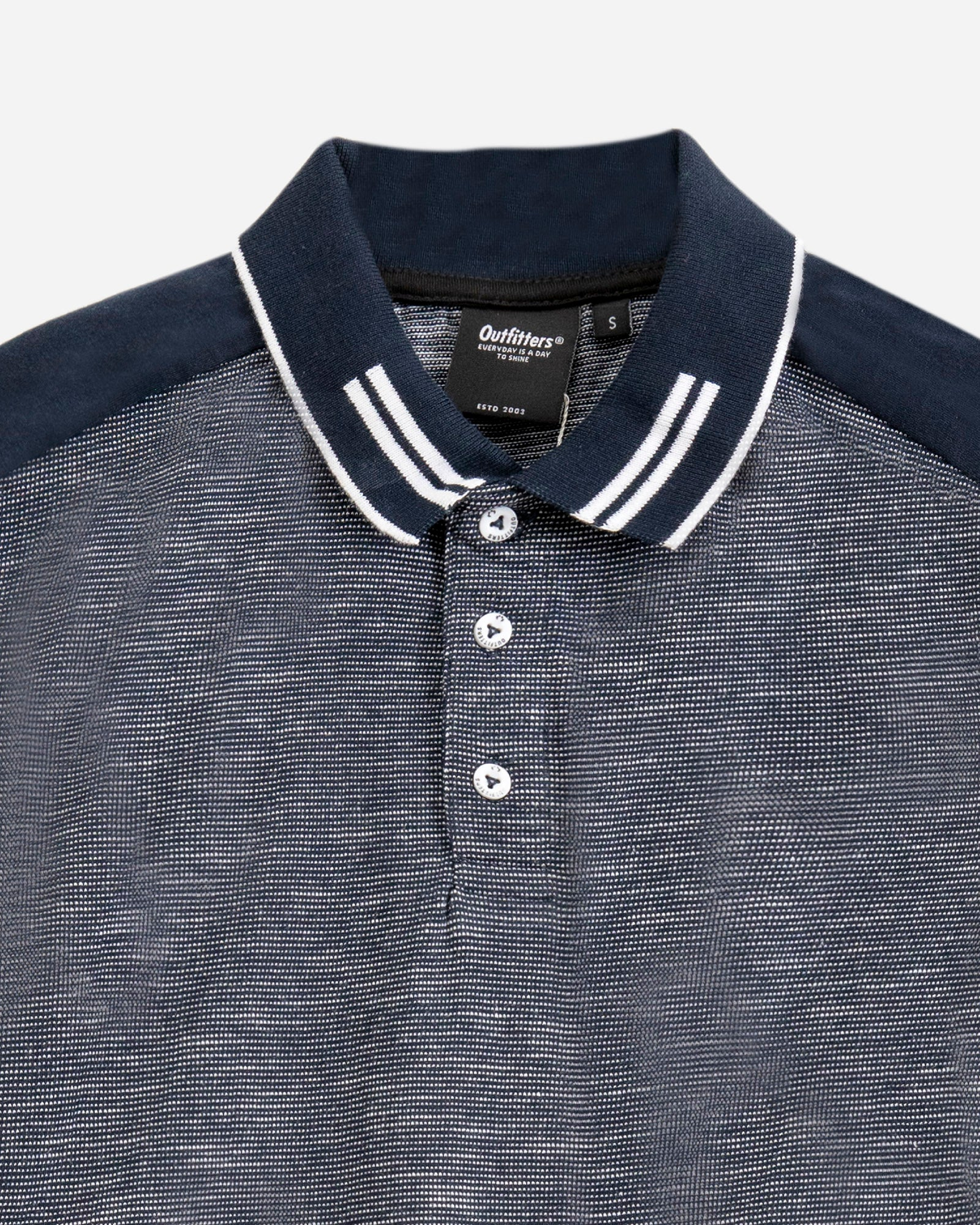 Striped Sleeve Polo