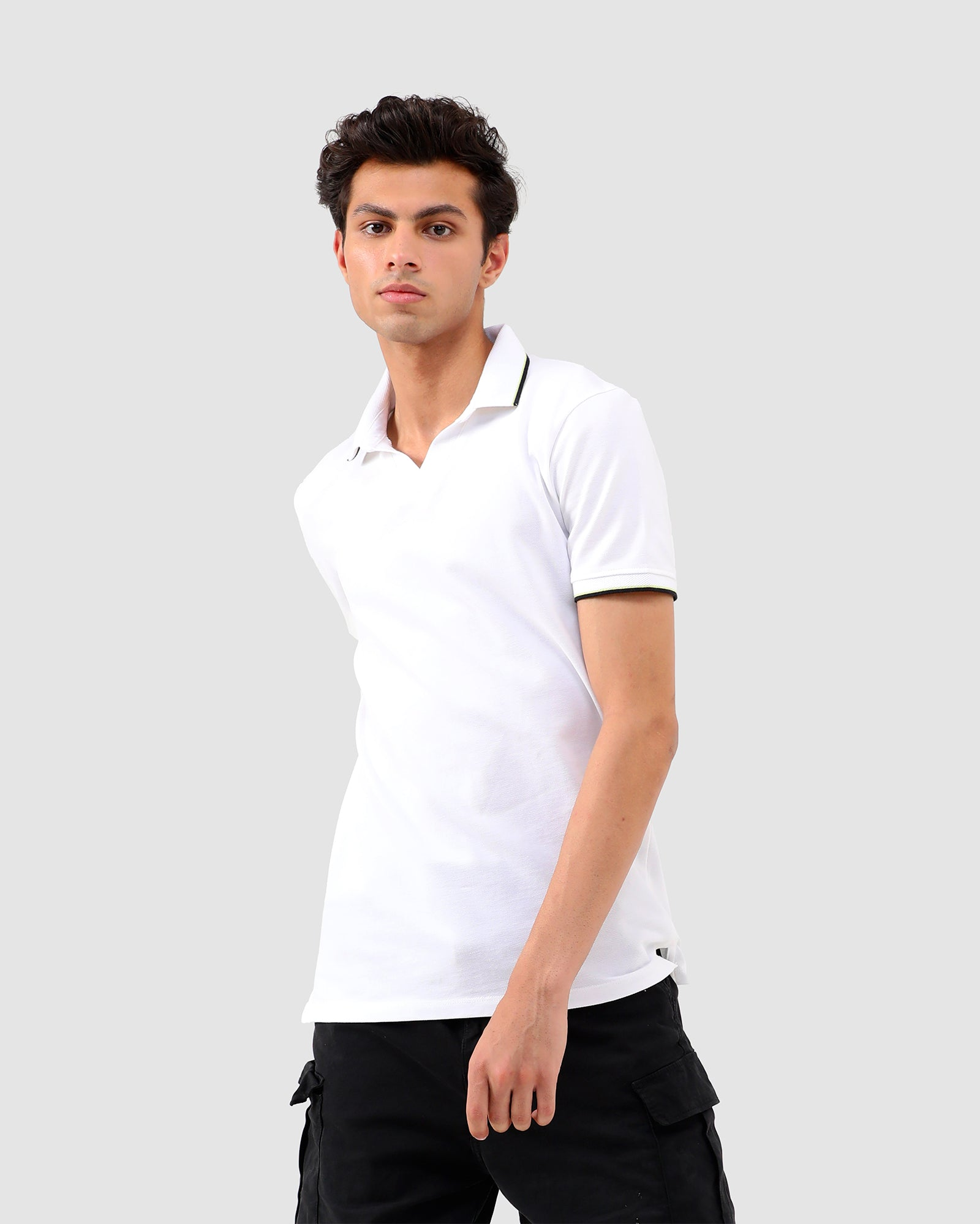 Polo Tee with Tipping Collar