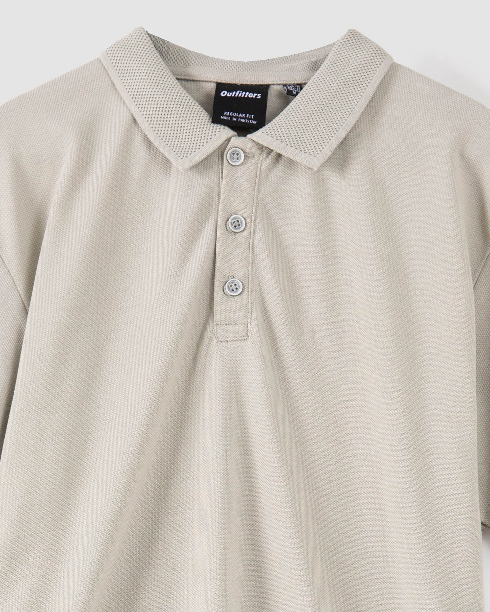 Polo Tee with Perforated Textured Collar
