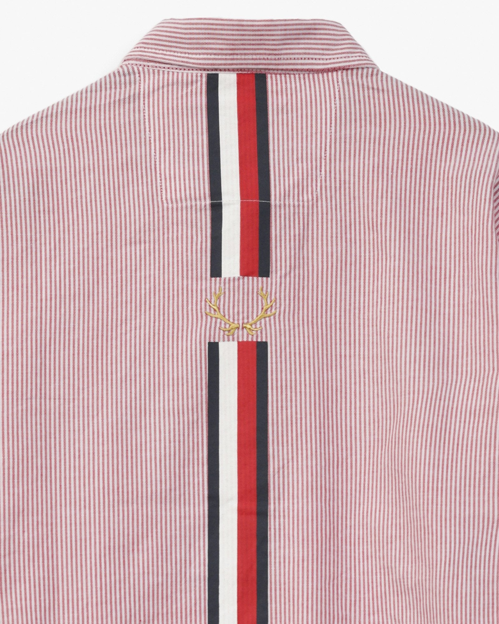 Striped Shirt with Emblem Detail