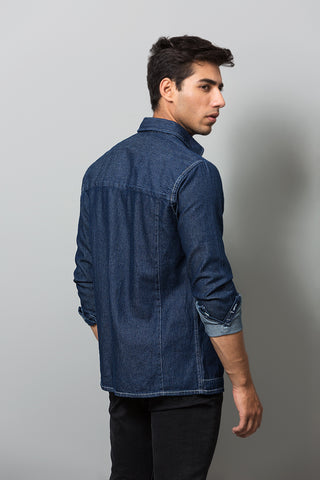 Blue Denim Buttoned Down Shirt