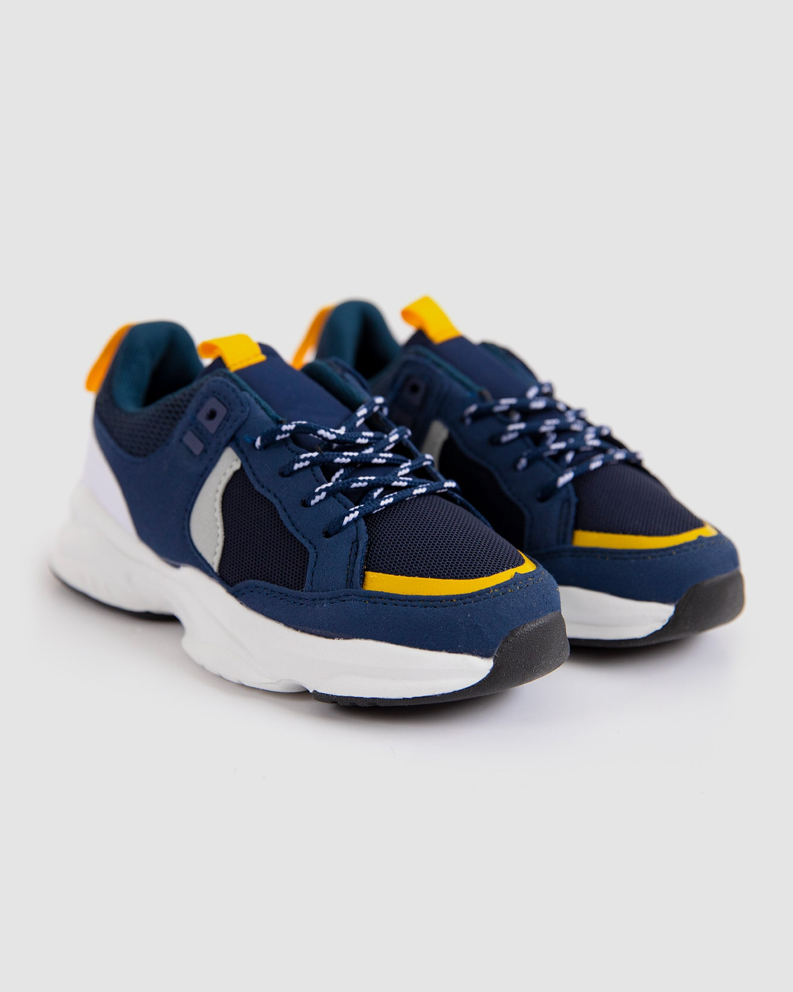 Navy joggers shoes