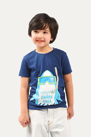 Cute Shark Graphic T-shirt