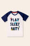 Play Sleep Party' Printed T-Shirt