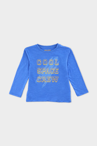 Slogan T-Shirt Blue