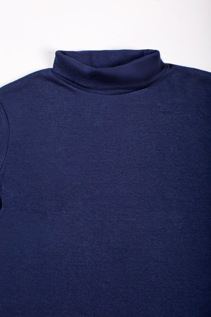 Navy T-shirt with a casual High neck design