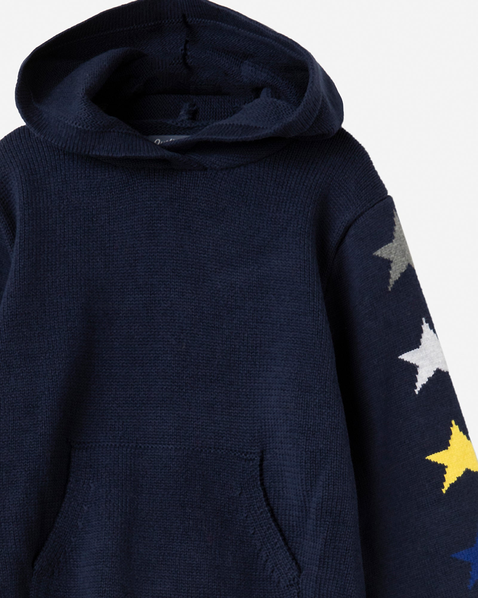 Star Print Hooded Sweater