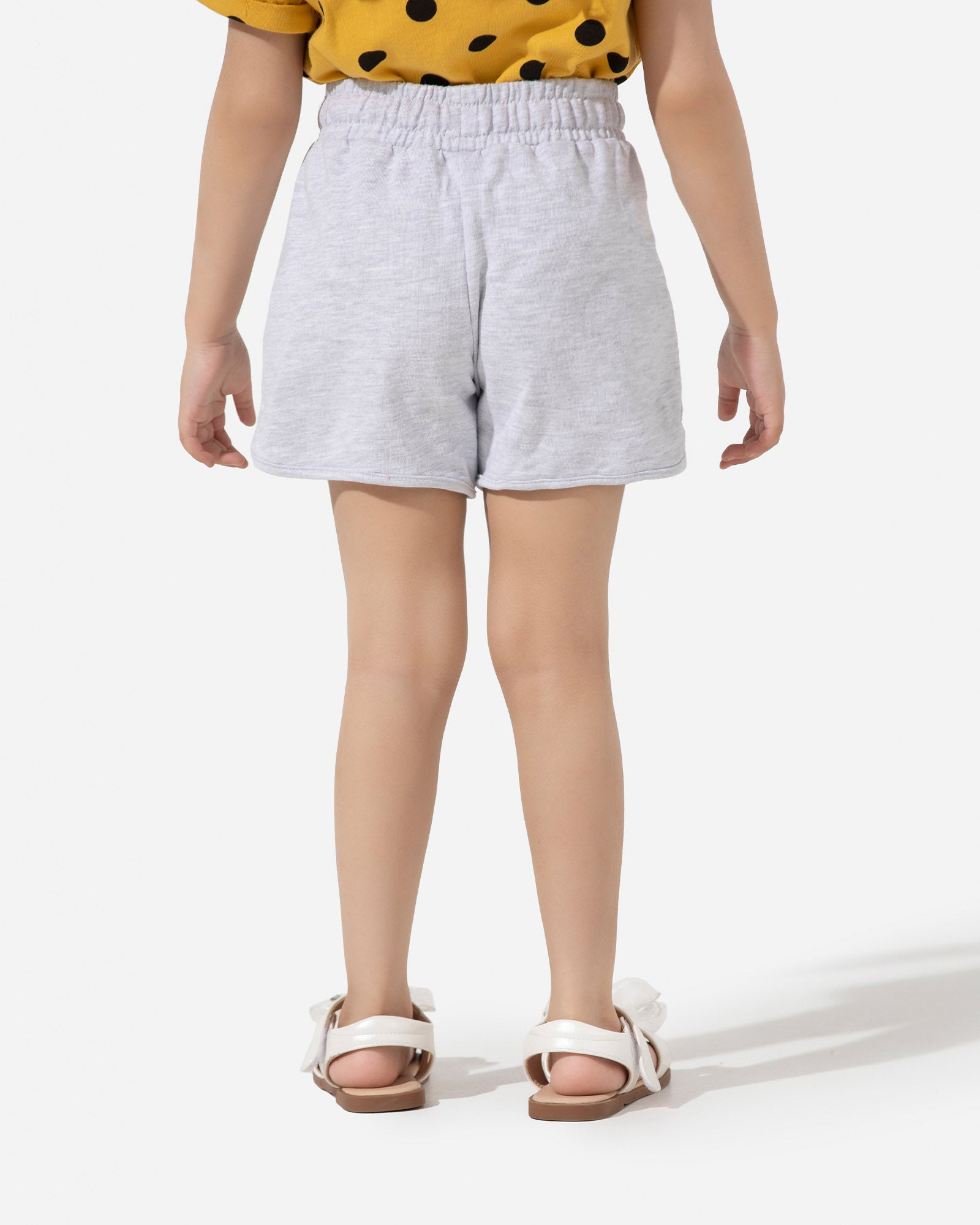 Jersey Shorts with Contrast Tie-up