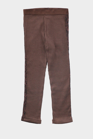 Ribbed Detail Trouser