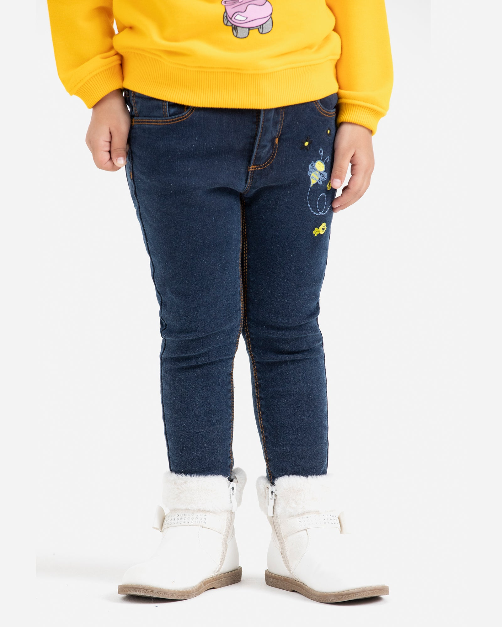 Honey Bee Embroidered Jeans