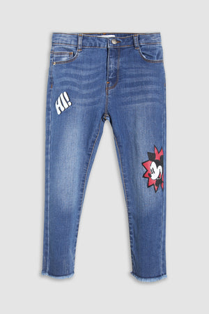 """Mickey Mouse"" graphic denim JEANS"