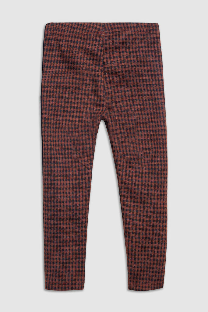 Plaid pattern trouser