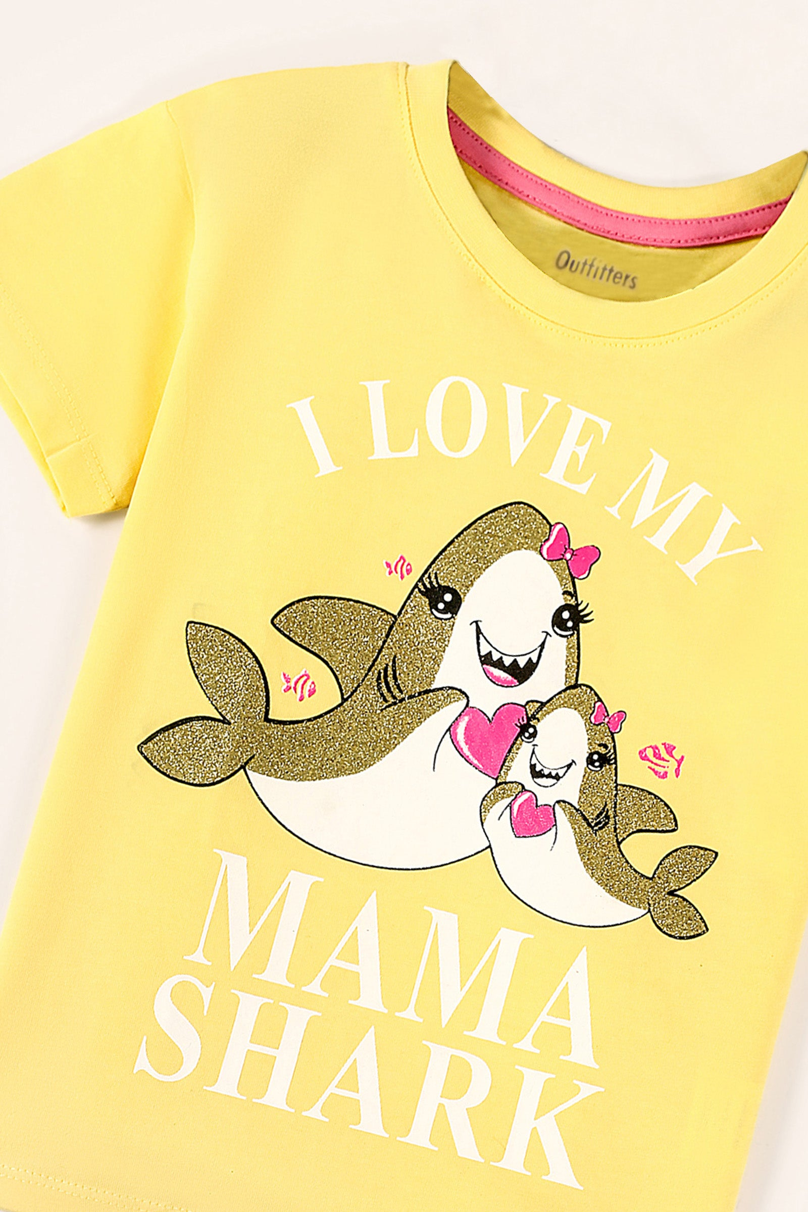 I Love My Mama' Print T-Shirt
