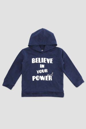 Slogan Hooded SweatShirt