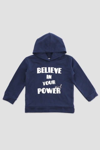 Slogan Hooded Sweat-Shirt