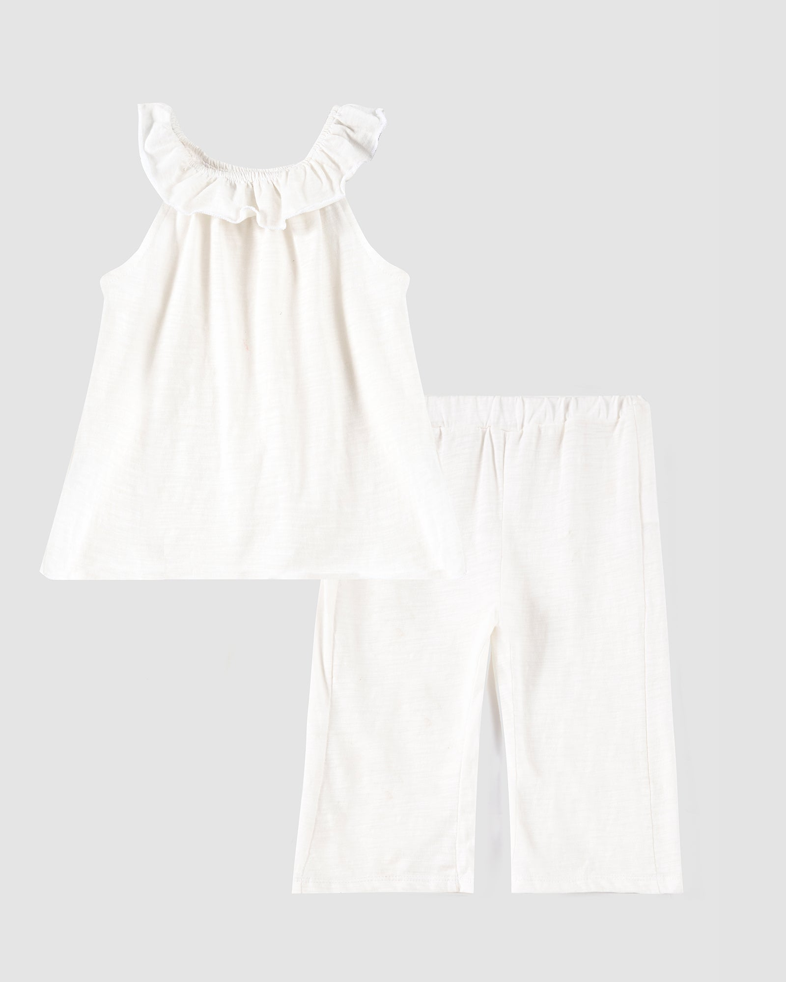 Twin Set with Ruffle Neck