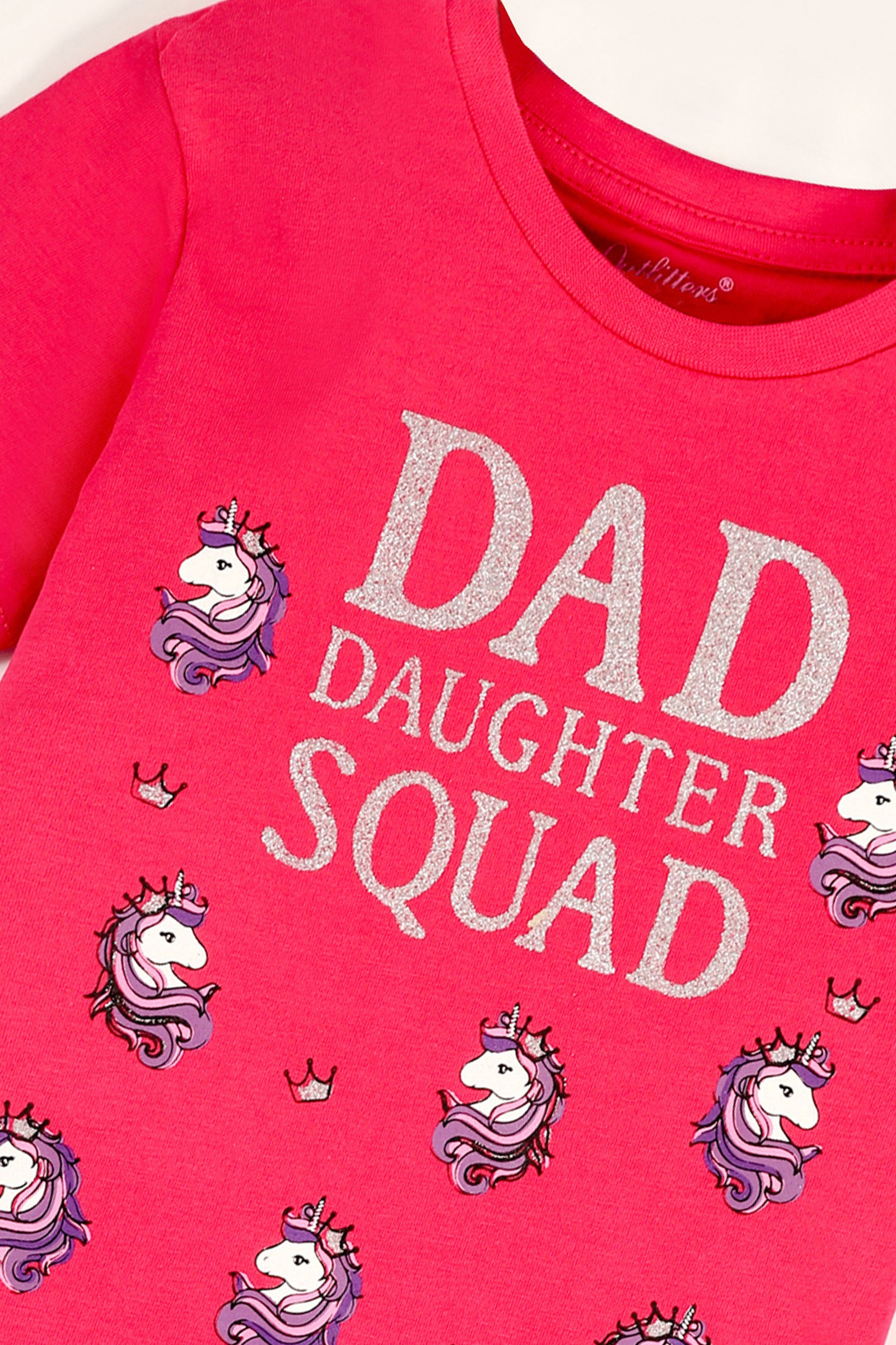 Dad Daughter Printed T-Shirt
