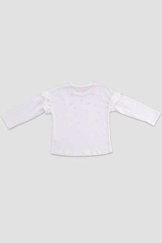 Smocked Detailed Graphic T-shirt