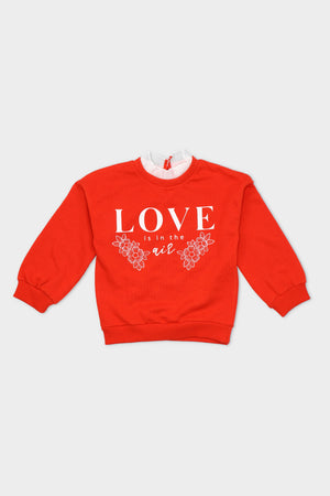 "High Neck ""Love In the Air"" Sweatshirt"