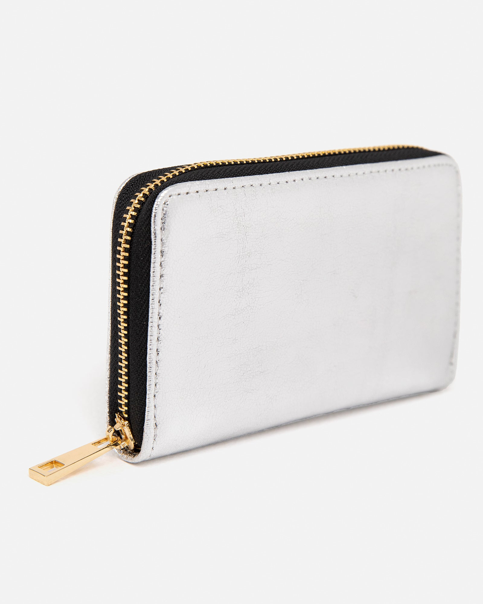 Metallic Zipper Wallet