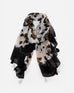 Animal Print Scarf with Tassel Detail